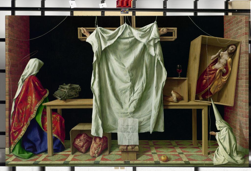 Michael Triegel, Deus absconditus, 2013, Mischtechnik auf Leinwand, 160 x 260 cm, Foto: Galerie Schwind, © VG Bild-Kunst, Bonn 2020