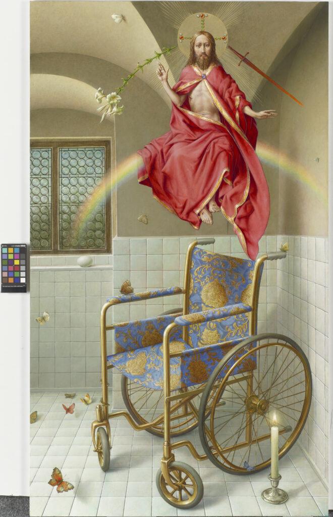 Michael Triegel, Imago, 2019, Mischtechnik auf MDF, 129,5 x 75 cm, Privatbesitz, Foto: Galerie Schwind, © VG Bild-Kunst, Bonn 2020